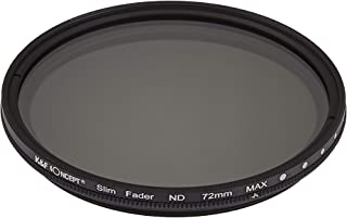 K&F Concept 可変式NDフィルター 72mm NDX 減光範囲ND2~ND400 薄枠設計 KF-NDX72