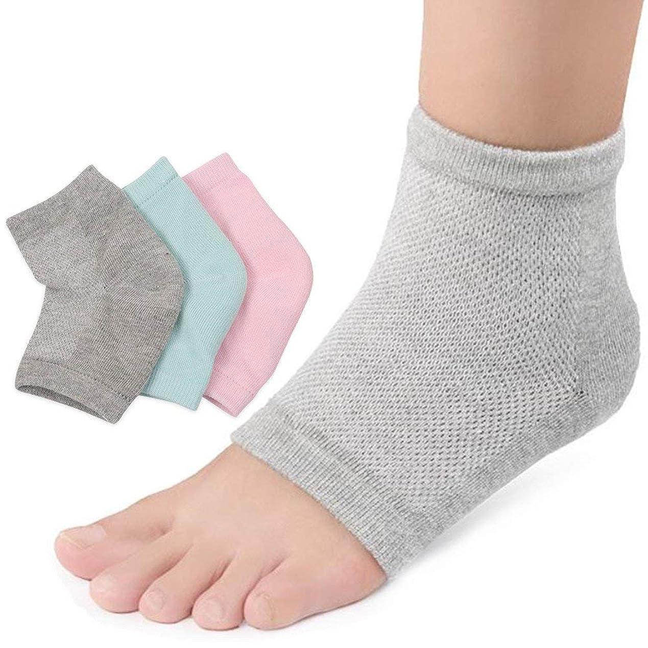 ポイントおいしいロバ3足セットかかと 靴下 かかとケア つるつる ジェル 靴下 角質 ケア 保湿 美容 角質除去足ケア 男女兼用