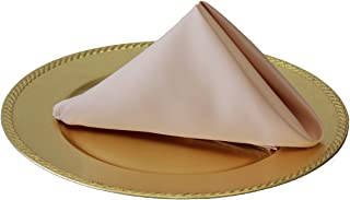 Your Chair Covers - 20 inch L'Amour Satin Napkins Blush (Pack of 10), Oversized, Double Folded and Hemmed Table Napkins for Restaurant, Bistro, Wedding, Thanksgiving and Christmas