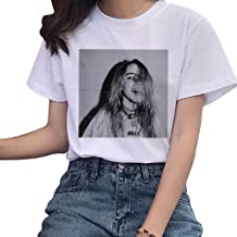 KIACIYA Trend Singer per Billie Eilish T-Shirt Ragazza,Billie Eilish Maglietta Bury a Friend Hip Pop Cotone Maniche Corte T-Shirt Top Camicetta per Uomo Donna Ragazza Teen