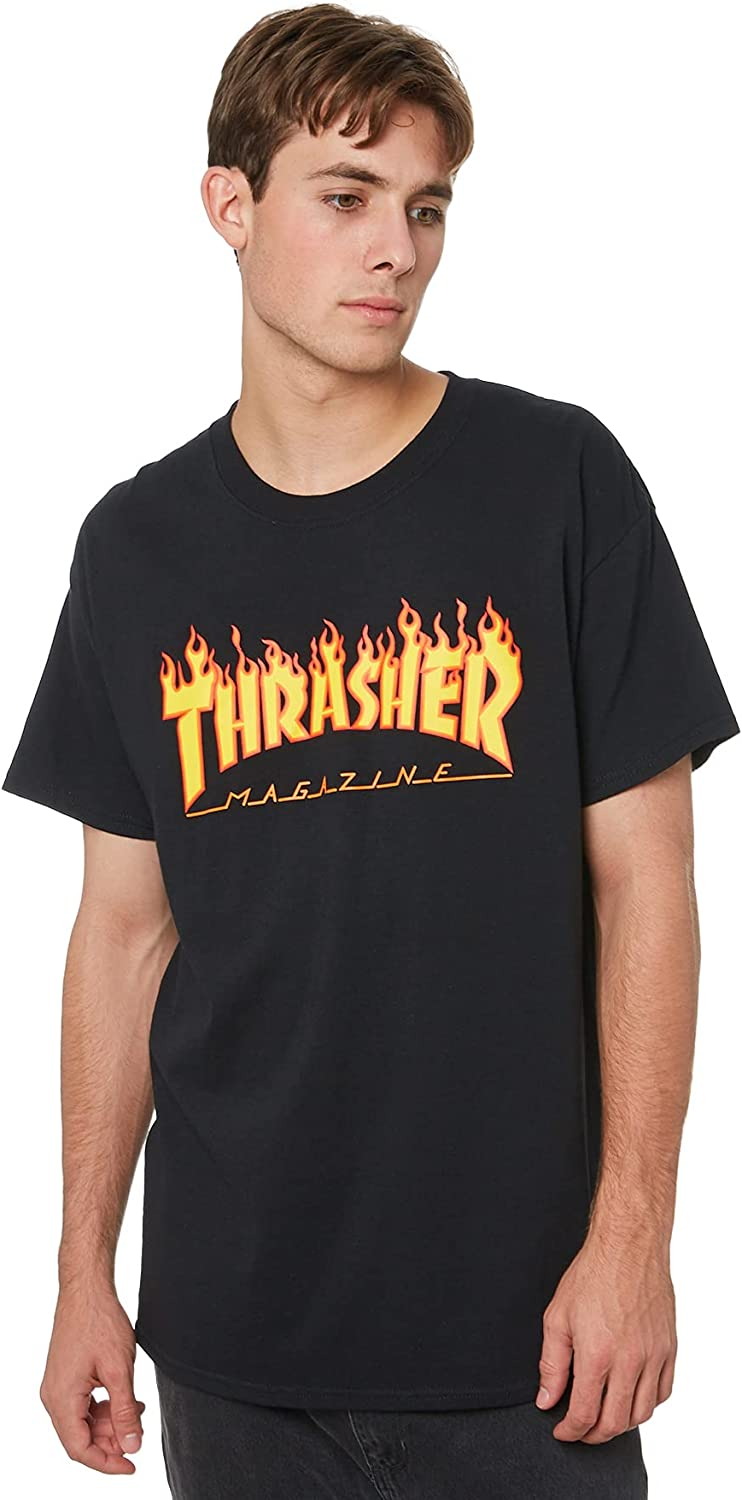 Thrasher Flame Short Easy-to-use T-Shirt Sleeve All items free shipping