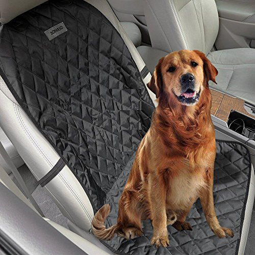 Aomaso Pet Car Bucket Seat Cover, Hammock Nonslip for Cars and SUV Fits Bucket Seat with Anchors and Belt Opening -Black
