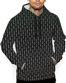 VVGHOPOI Mens Cool 3D Print Athletic Fashion Fuck You - Pin Stripe Pocket Pullover Hooded Shirts