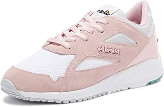 Ellesse Contest Womens Pink/Grey Suede Trainers