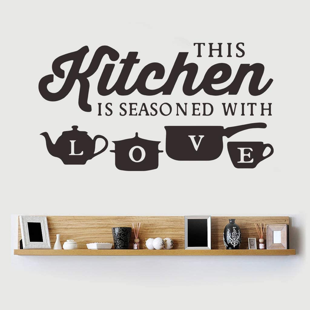 Summerjokes Funny Wall Stickers Kitchen Decoration Wall Sticker Decoration Inspiration Full of Love Fun Vinyl Sticker Kitchen Decor-Room Decoration Wall Art Mural Home Decoration