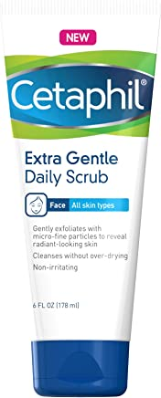 Cetáphil Extra Gentle Daily Scrub (Pack of 2) - Gently Exfoliates & Cleanses Without Over-Drying - for All Skin Types - Non-Irritating & Hypoallergenic - Suitable for Sensitive Skin 6 oz