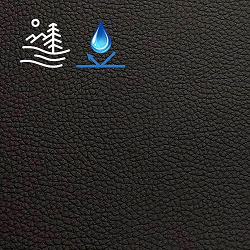 Brabant Textiel Wasserfest Outdoor Kunstleder - Lederimitat mit grobem Ledermotiv - Lederstoff - Stoß- und Kratzfest - Innen- und Außenbereich ab großem Lagerbestand (Schwarz, 140 cm x 1 Meter)