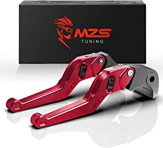 MZS Red Short Levers Wheel Roller Brake Clutch Adjustment for FZ-07 FZ07 MT-07 MT07 FZ-09 FZ09 MT09 FJ-09 FJ09 MT-09 Tracer FZ1 FZ6 Fazer FZ6R FZ8 XJ6 Diversion XSR 700 900 ABS
