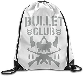 Bullet Club Unisex Home Gym Sack Bag Sport Drawstring Backpack Bag