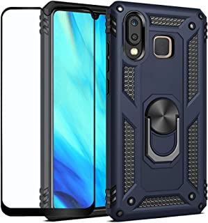 Strug for Samsung Galaxy A30/A20 Case,Hybrid Armor Heavy Duty Shockproof Protection Built-in 360 Rotatable Ring Magnetic Car Mount Case with Screen Protector for Samsung Galaxy A30/A20(Blue)