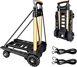 Folding Hand Truck Portable Trolley Dolly Compact Utility Luggage Cart with 70Kg/155Lbs..