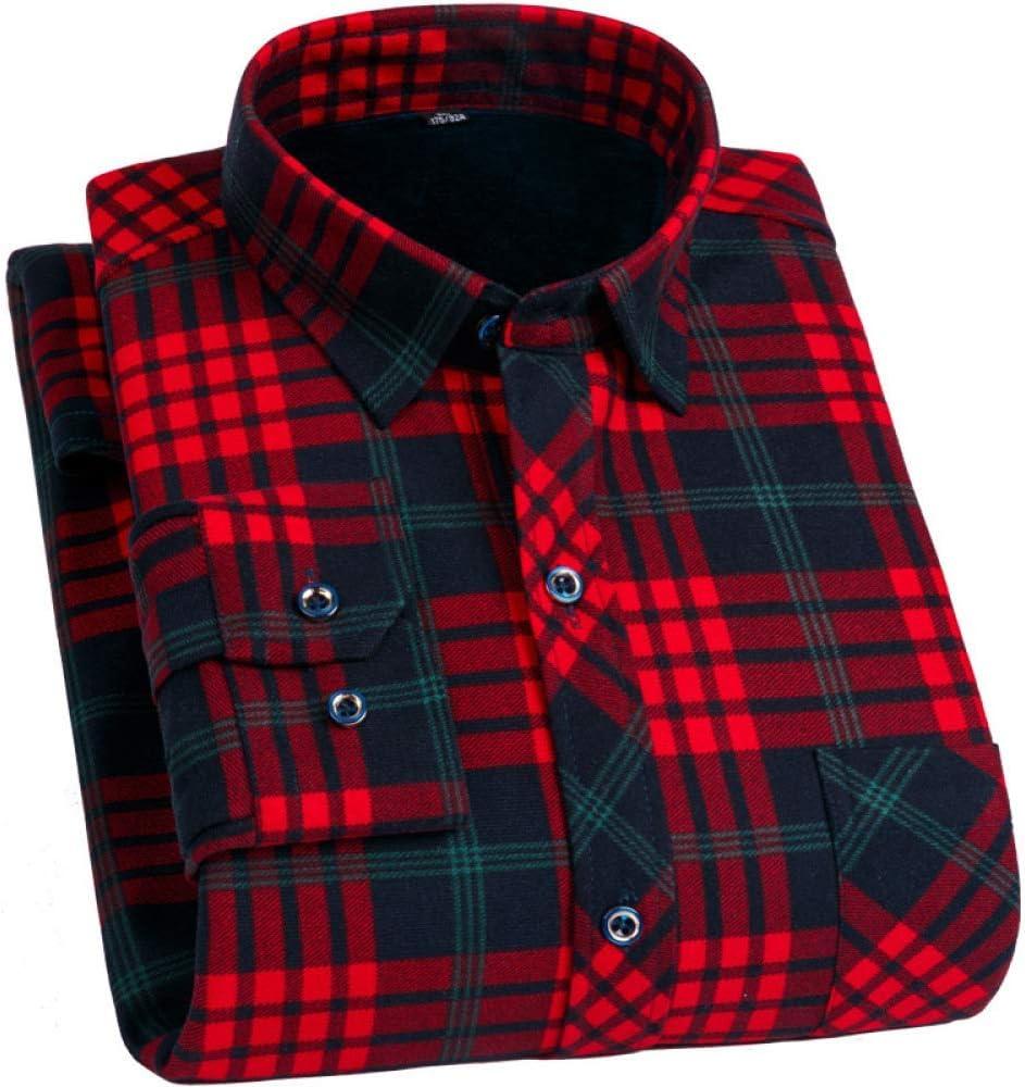 Caliente del invierno camisa de manga larga para los hombres ...