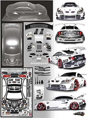 FireBrand RC • BALLER 2.0 XDR Clear Lexan Drift/Race/Show Body & Accessories Kit (See All Pics, not complete car)