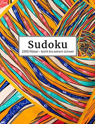 Sudoku Rätselheft: Über 1000 Rätsel unterteilt in: leicht - mittel - schwer - extrem | Sudokubuch mit Lösungen im Anhang | Riesen Rätselbuch für Erwachsene | Gehirnjogging und Zeitvertreib