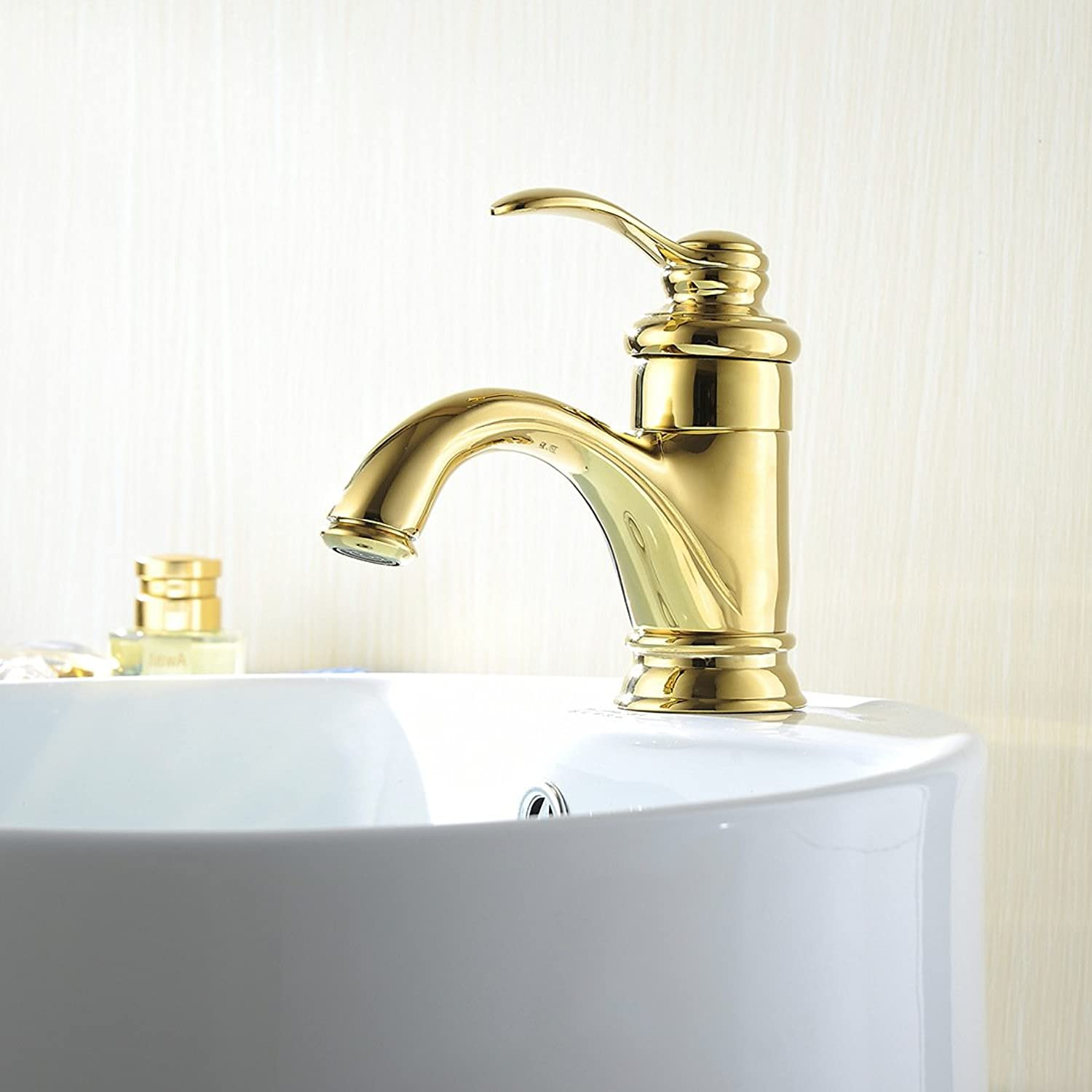 Hlluya Professional Sink Mixer Tap Kitchen Faucet Hot and cold-water faucet gold bathroom basin mixer mixing of hot and cold water taps