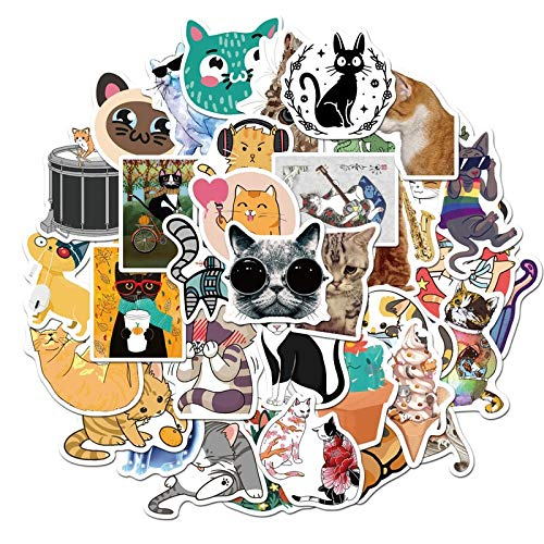 BLOUR Cute Cats Animal Graffiti Sticker Estilo Mixto Juguetes para Maleta Laptop Bike Equipaje Coche Scooter Skateboard Sticker LD 50 Unids