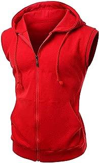 Sleeveless Creed II Red Hood Fleece Vest Biker Hoodie