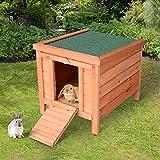 Zoom IMG-1 pawhut conigliera gabbia per conigli
