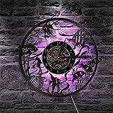 ZZLLL Reloj de Pared con diseño de pez Dorado, decoración mínima para el hogar, diseño Moderno, Reloj de Pared con Registro de Vinilo, Reloj de Pared Decorativo para habitación de niños, Acuario