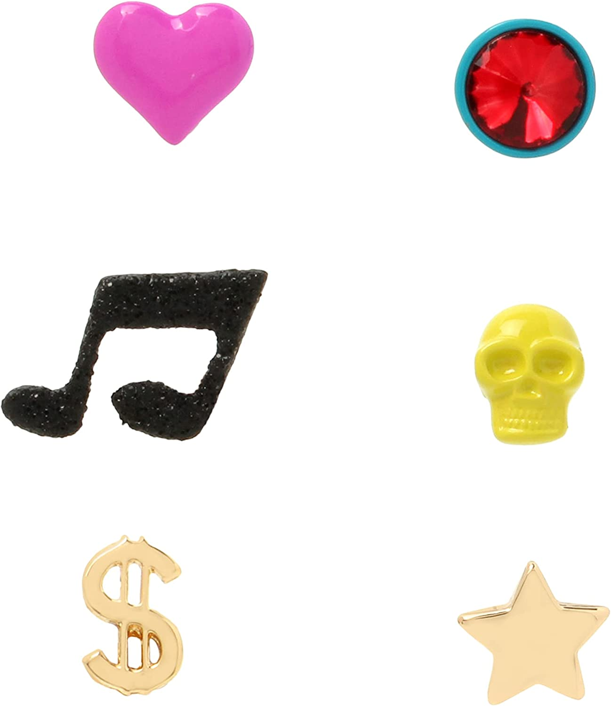 Skull Single Stud Earrings Set