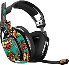 MightySkins Skin Compatible with Astro A40 Gaming Headset - Crazy Tikis   Protective, Durable, and Unique Vinyl Decal wrap Cover   Easy to Apply, Remove, and Change Styles   Made in The USA