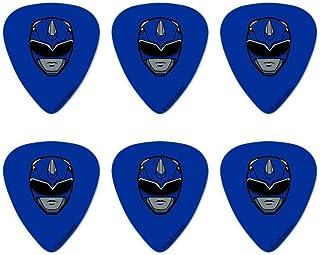 Power Rangers Blue Ranger Helmet Novelty Guitar Picks Medium Gauge - Set of 6