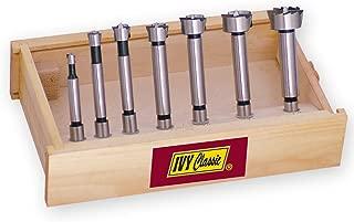 IVY Classic 46182 7-Piece Forstner Bit Set, High-Speed Steel, Wooden Case