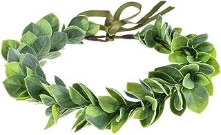 DreamLily Greek Headpiece Bridal Green Leaf Crown Bohemian Halo Grecian Wedding Crown XM01