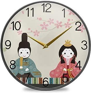 Chovy 掛け時計 サイレント 連続秒針 壁掛け時計 インテリア 置き時計 北欧 おしゃれ かわいい 和風 和柄 桜 桜柄 可愛い かわいい 部屋装飾 子供部屋 プレゼント