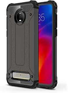 Fashion Stylish Cell Phone Basic Cases Cover Phone Case For Motorola Moto Z4 Play Magic Armor TPU + PC Combination Case For Girl Boy Men Women (Color : Bronze)
