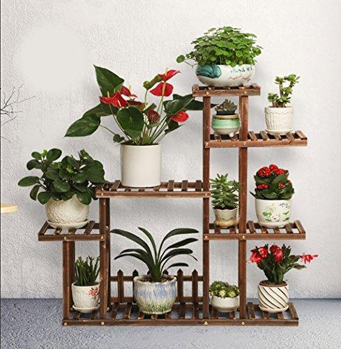 SMHJ Etagere Plante Plante en Bois Fleur présentoir en Bois Pot étagère de Rangement en Plein air intérieur 7 Pots Titulaire 100 * 25 * 90 cm (Couleur : 2)