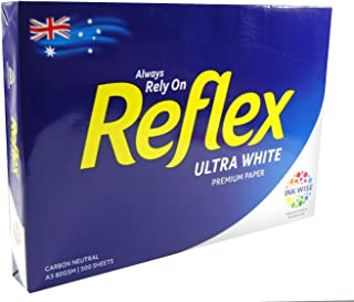 Copy Paper Reflex Ultra White 80gsm A3 Copy Paper 500 Sheet Ream Pack, (35070)