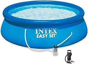 مسبح انتكس دائري سهل التركيب مع فلتر رملي و منفاخ هواء يدوي