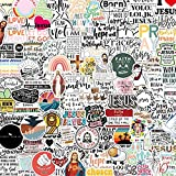 AAPBB 100 PCS Jesus Christian Stickers Religious Bible Faith Stickers Wisdom Words Stickers Skin Decal for Skateboard Hydro Flask Water Bottle Car Cup Computer Guitar Skateboard Luggage Bike Bumper
