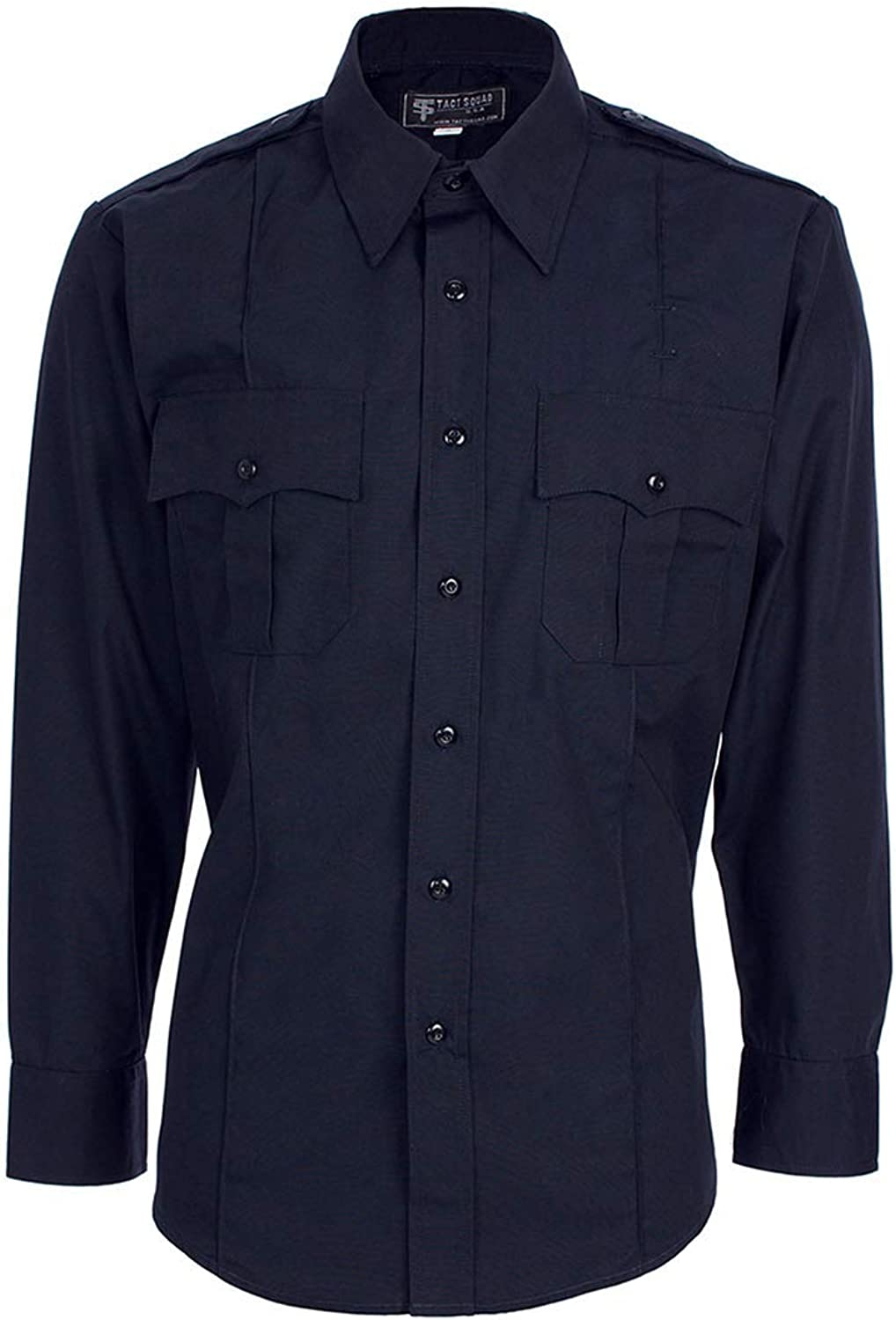 Tact Squad NEW before selling Men's Polyester Ranking TOP20 Cotton Long Shirt Navy 2XL L Sleeve