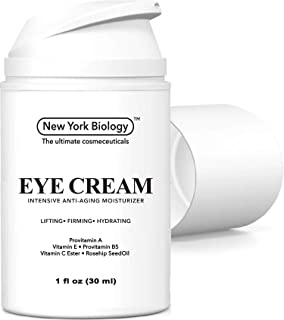 Eye Cream Moisturizer for Dark Circles, Fine Lines, Puffiness and Wrinkles Under the Eyes – Intensive Anti Aging Formula with Provitamin A and B5, Vitamin C and E – 1 fl oz (30ml)