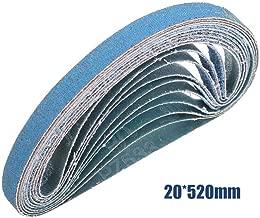 Sanding Belts MASO 20mm x 520mm 60 Grits Power Tool Sander Abrasive Sanding Belts Metal Grinding Sanding Belts for Power Tool Sander - Pack of 10pcs