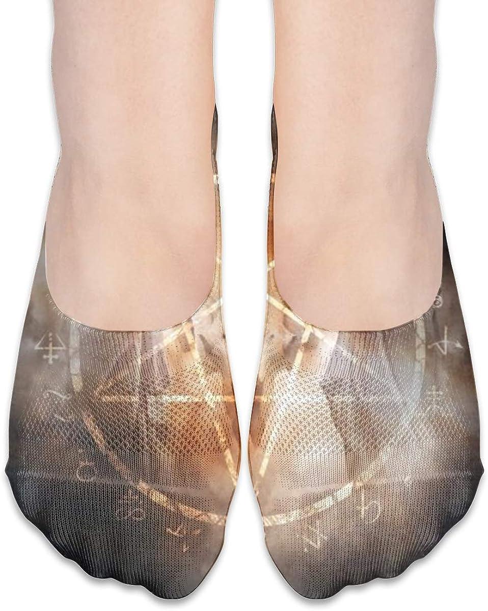 No Show Socks Women Men For Fiery Pentagram Symbols Flats Cotton Ultra Low Cut Liner Socks Non Slip