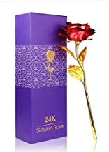 WebelKart Jaipurcrafts 24K Red Gold Rose 10 Inches with Box