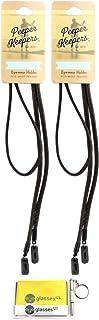 Peeper Keepers Eyeglass Retainer  Leather Sunglass Holder   w/Microfiber Cloth & Screwdriver