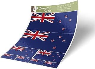 Desert Cactus New Zealand Country Flag Sticker Decal Variety Size Pack 8 Total Pieces Kids Logo Scrapbook Car Vinyl Window Bumper Laptop NZ V
