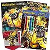 Transformers Rescue BotsカラーリングブックSuperセット???- 2ジャンボBooks、8クレヨン、ステンシル、ミニポスター、Tattoos and More 。