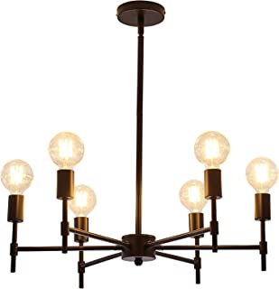 ASGYISA 6-Light Chandelier,Metal Modern Ceiling Lighting...