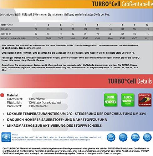 TURBO BodyCell kurz Schwitzhose /Kompressionshose mit extrahohem Bund 12762-019 - 2