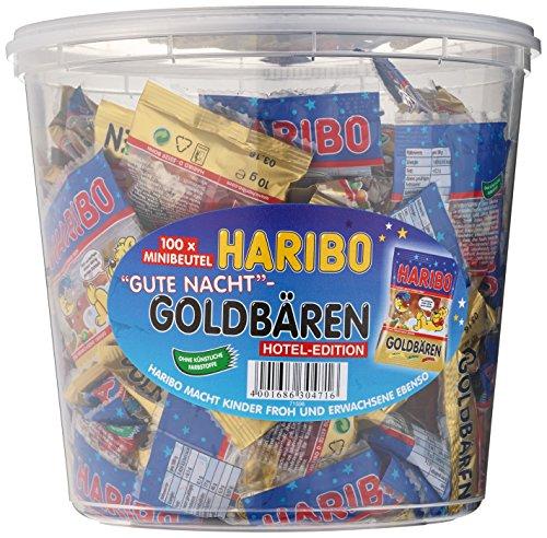 Haribo 100 Minibeutel Gute Nacht Goldbären