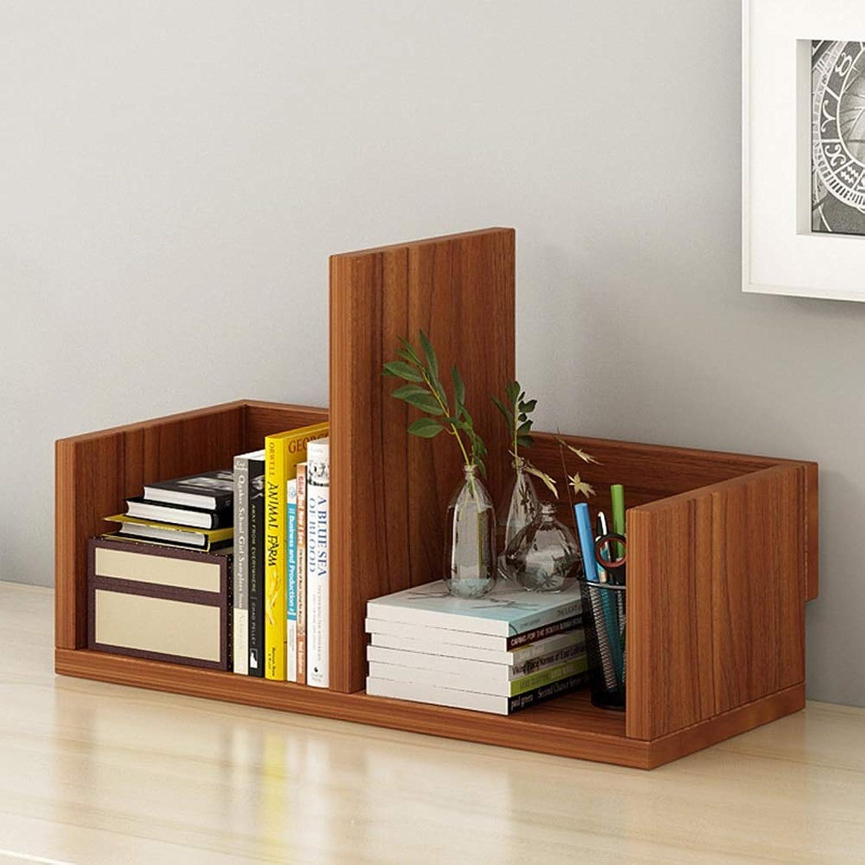 Bookcase Book Shelves Desktop Bookshelf Display Shelf File Book Organizer Rack for Home, Office - 3 colors Optional (color   Ancient Ebony, Size   40  17  26cm)