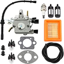 Dxent FS120 Carburetor Air Filter for STIHL FS200 FS250 FS300 FS350 BT120 BT121 FR350 FR450 FR480 String Trimmer Weedeater Primer Bulb Fuel Line Kit