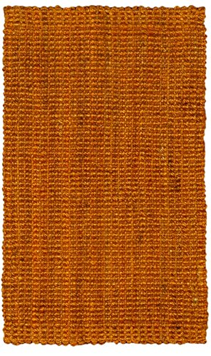 Jute & Co Boucle Bouclé tapijt, handgeweven, jute, terracotta, 60 x 140 cm