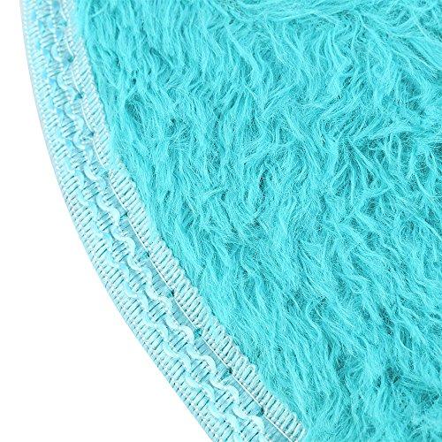 Amphia 30 * 40cm Anti-Skid Flauschige Shaggy Area Teppich Home Schlafzimmer Bad Boden Türmatte Ovale Teppichboden Matte