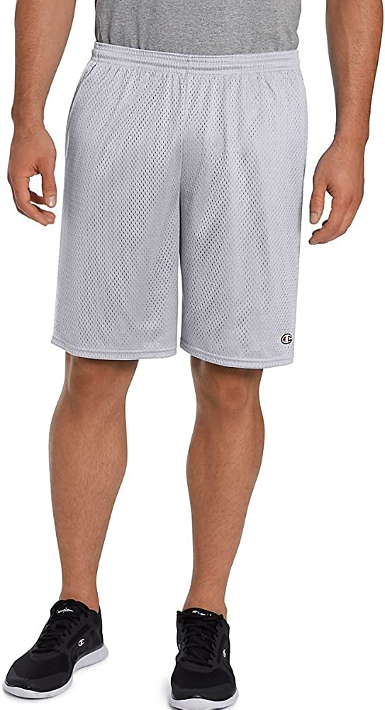 Champion New product Austin Mall type Long Mesh Men's Grey_Small Shorts Pockets_Athletic with
